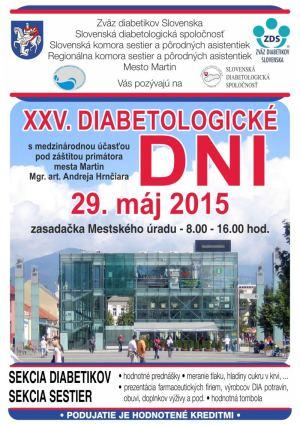 25. diabetologické dni - Martin 2015